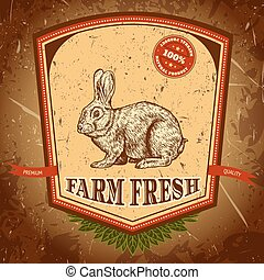 label with rabbit