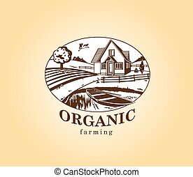 Organic farming design element.