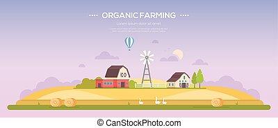 Organic farming - modern flat design style vector illustration