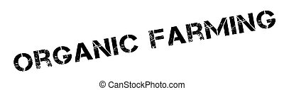 Organic farming rubber stamp