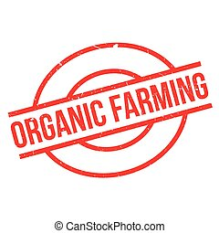 Organic farming rubber stamp
