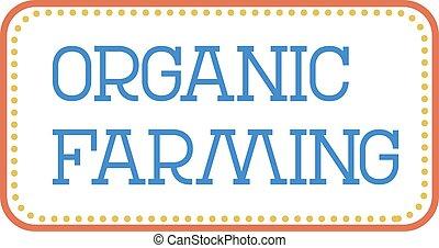 ORGANIC FARMING stamp on white background