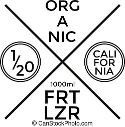 Organic Fertilizer Label and Badge Design. Vector...