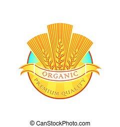 Organic flour label