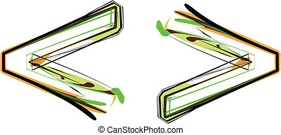 Organic Font illustration. Vector