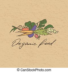 Organic food badge.
