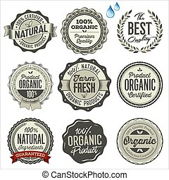 Organic Food Badges.