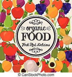 organic food design - organic food graphic design , vector...