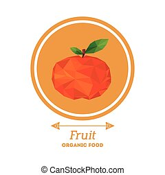 organic food design, vector illustration eps10 graphic