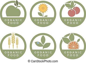 Organic food icons