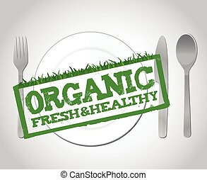 organic food illustration design