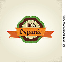 Organic food label, tag and graphi element