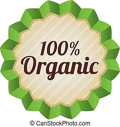 Organic food label, tag. Ecological sticker.
