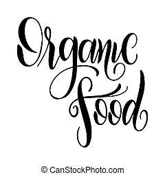 Organic food labels with hand drawn lettering.