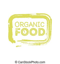 organic food rubber stamp