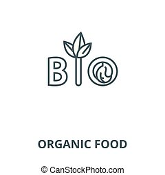 Organic food vector line icon, linear concept, outline sign, symbol
