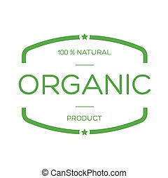 Organic food vintage stamp