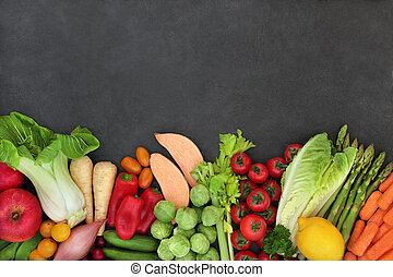 Organic Fresh Fruit and Vegetables for a Healthy Diet