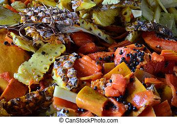 Organic fresh fruit waste
