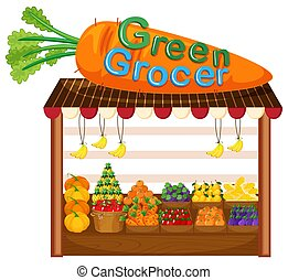 Organic fruit and vegetable store