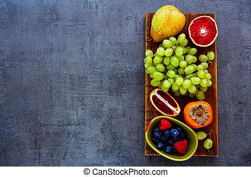 Organic fruit selection