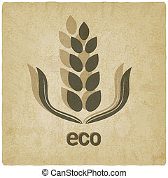 organic grain old background - vector illustration