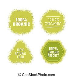 Organic green label