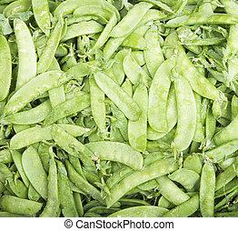 Snap Peas - Organic Green Snap Peas Fill the Frame