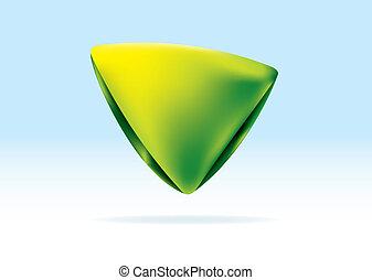 Organic green triangle