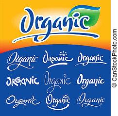 Organic headlines, hand lettering s - Set of 9 handwritten...