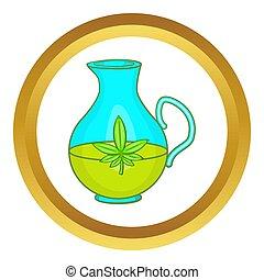 Organic hemp oil  icon