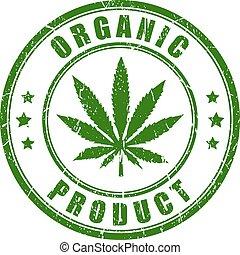 Organic hemp rubber stamp