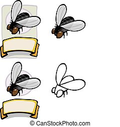 Organic Housefly Design - Variations of a housefly brand...