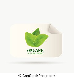 Organic Label Illustration