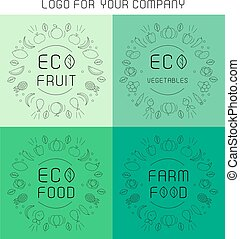 Organic labels set