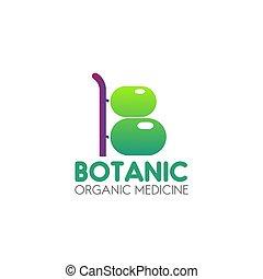 Organic medicine vector icon