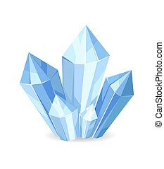 Organic Mineral Crystalic Precious Stones Vector
