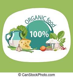 Organic natural food.
