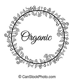 Organic natural food label