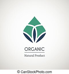 Organic natural product logo design. Vector geometric symbol