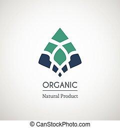 Organic natural product logo