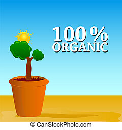 organic nature vector illustration