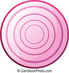 Organic onion icon, cartoon style