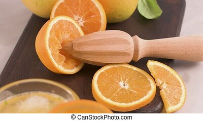 Organic orange juice - Fresh organic orange juice. Homemade...