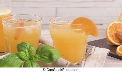 Organic orange juice - Fresh organic orange juice. Homemade...