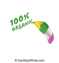 organic pencil vector illustration