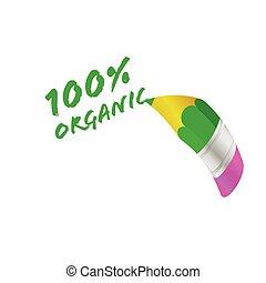 organic pencil vector illustration