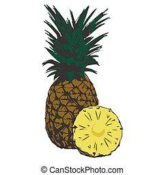 organic pineapple tropical