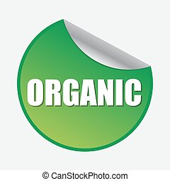 Organic product badge. Organic sticker. Web stickers, tags and banners