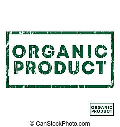 Organic product stamp with grunge texture and clear design